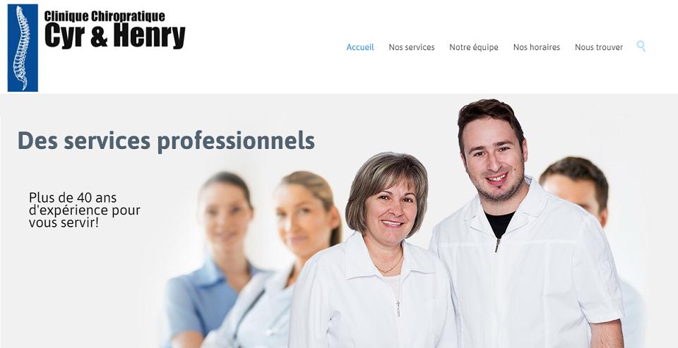 Clinique Chiropratique Cyr & Henry en Ligne