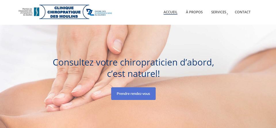 Clinique Chiropratique des Moulins en Ligne