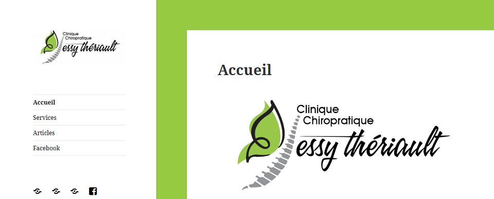 Clinique Chiropratique Jessy Thériault en Ligne