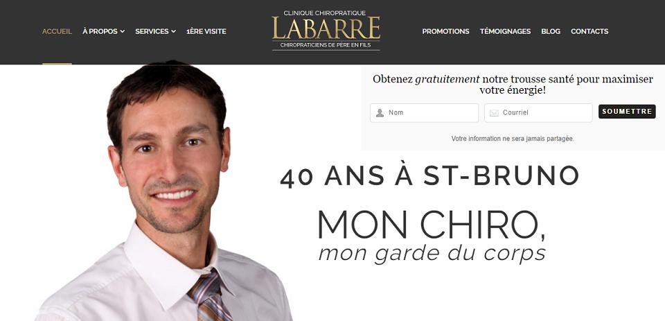 Clinique Chiropratique Labarre en Ligne