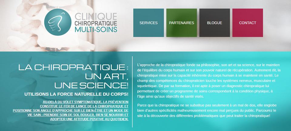 Clinique Chiropratique Multi-Soins  en Ligne