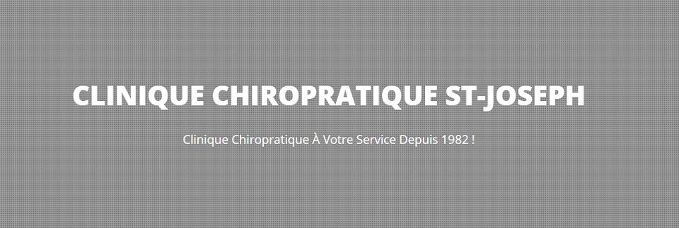 Clinique Chiropratique St-Joseph en Ligne