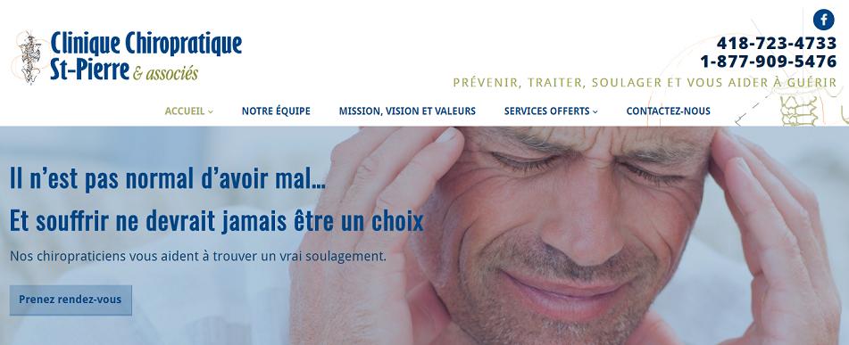 Clinique Chiropratique St-Pierre & Associés en Ligne