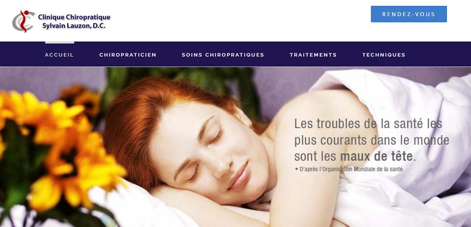 Clinique Chiropratique Sylvain Lauzon, D.C. en Ligne