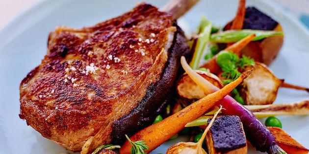 Photo Recette Côte de Veau à la Crème et Légumes Rôtis