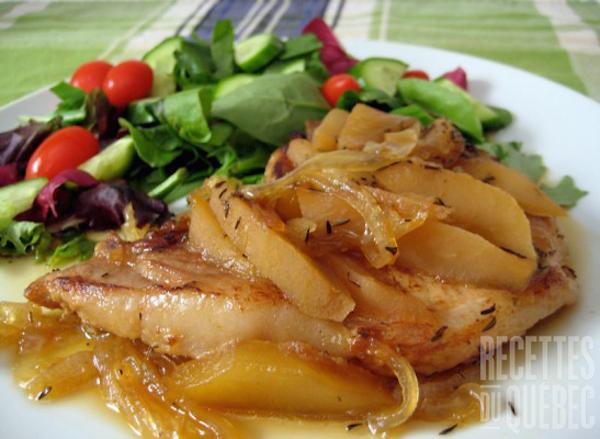 Côtelette de Porc aux Pommes et à L'érable