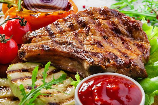 Côtelettes de Porc sur le BBQ