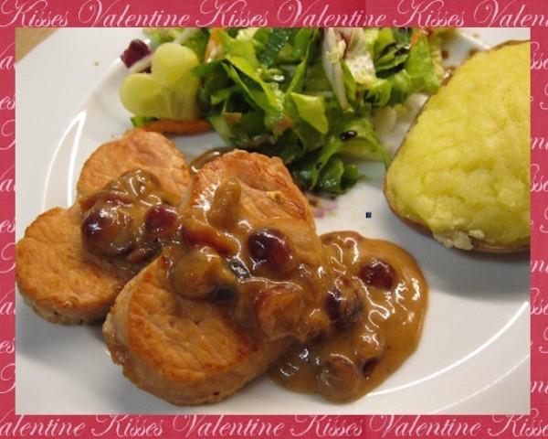 Coeur de Porc aux Cramberries pour mon Valentin