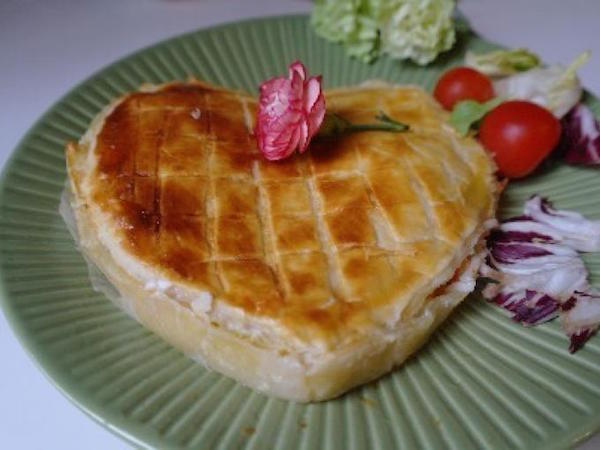 Coeur Feuilleté au Crabe & Avocat pour la Saint Valentin