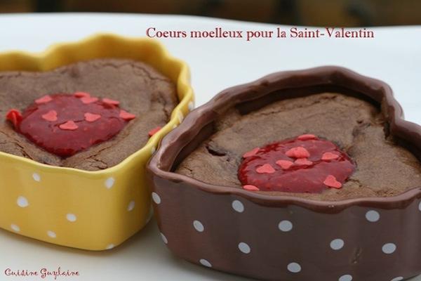Cœur Moelleux au Chocolat/Framboise pour la Saint-Valentin