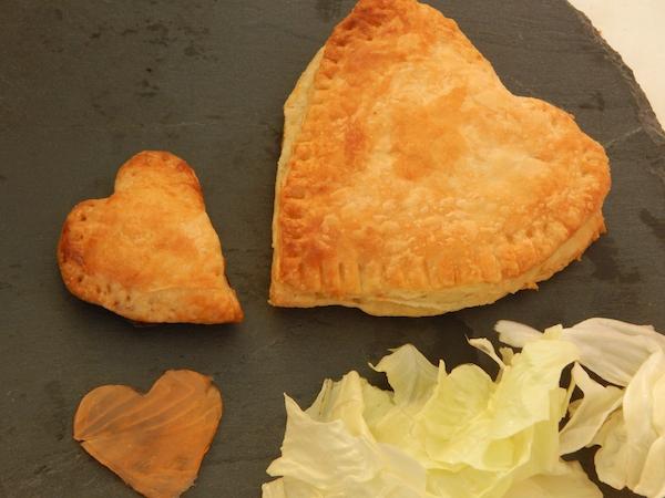 Coeurs Feuilletés Saumon ou Truite pour la St Valentin