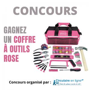 Concours Gagnez une Boîte à Outils Rose