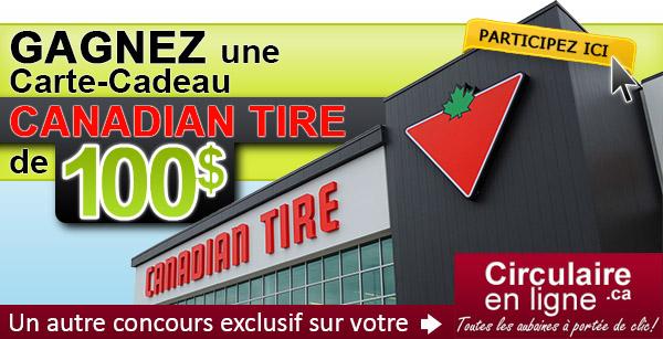 Gagnez une carte-cadeau Canadian Tire de 100$