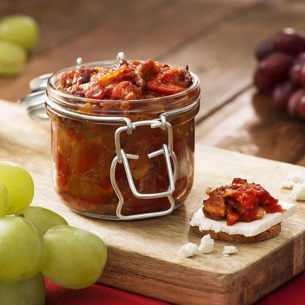 Confiture de Tomates et de Bacon avec Bourbon