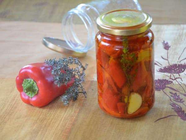 Conserves de Poivrons Grillés (à l'huile d'olive)