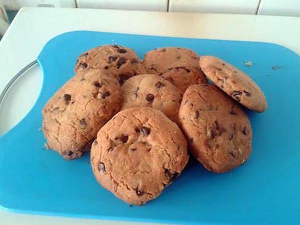 Cookies au Pépites de Chocolat et Son Coeur de Nutella