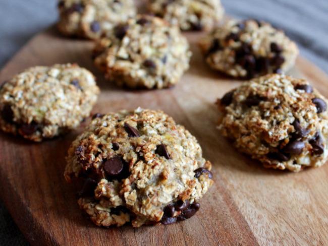 Cookies aux Flocons D'avoine, Banane et Chocolat Noir