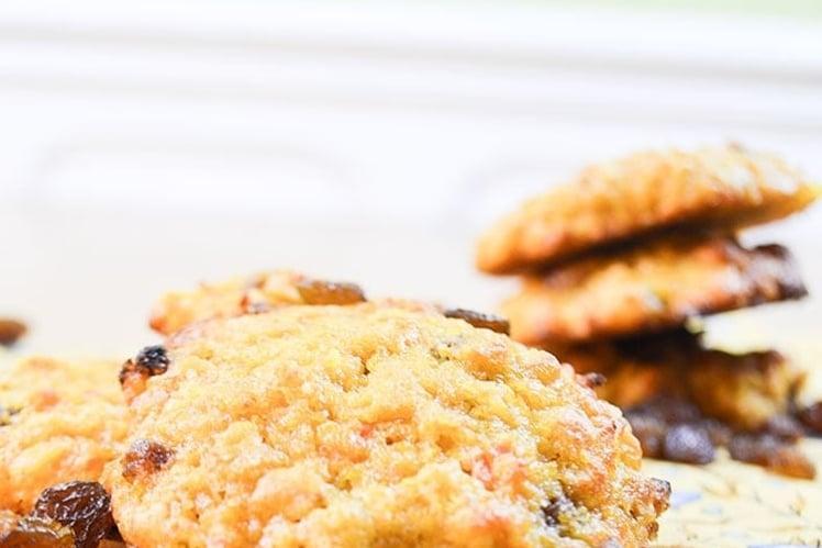 Cookies Carottes Flocons D'avoine et Raisins Secs