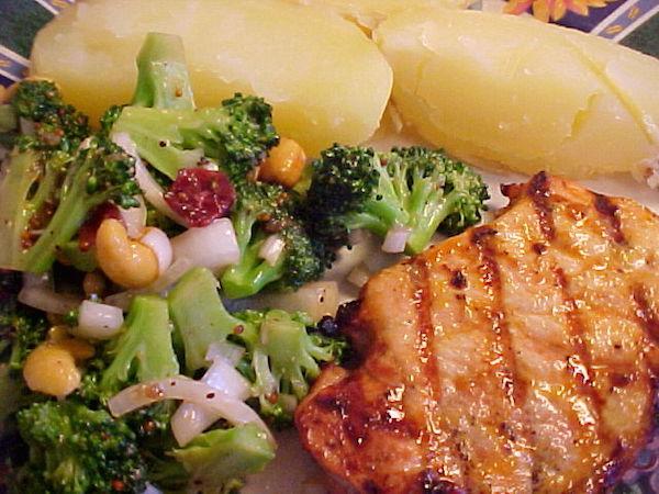 Côtelettes de Porc à L'orange et à la Moutarde sur BBQ