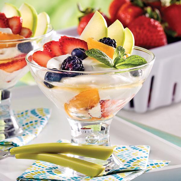 Coupes Fruitées Lime Menthe et Grand Marnier