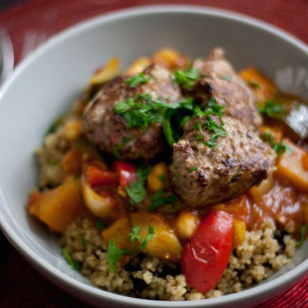 Couscous de Quinoa et BoulettesD'agneau, Sans Gluten