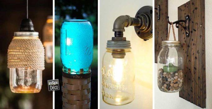 Créer une Lampe Design avec des Bocaux en Verre