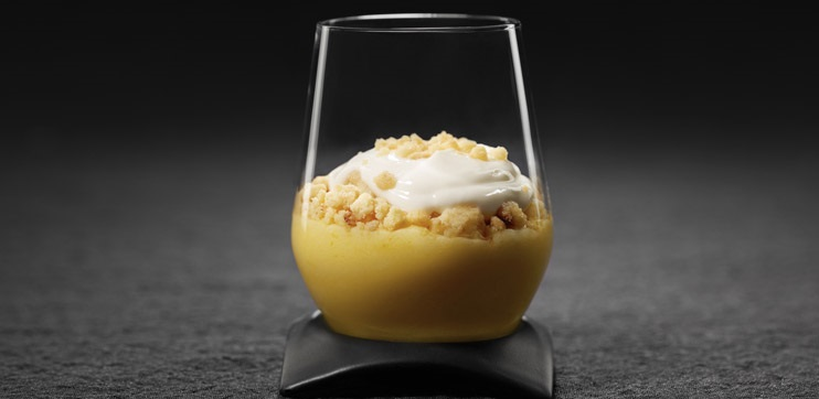 Crème au Citron Crumble au Yogourt