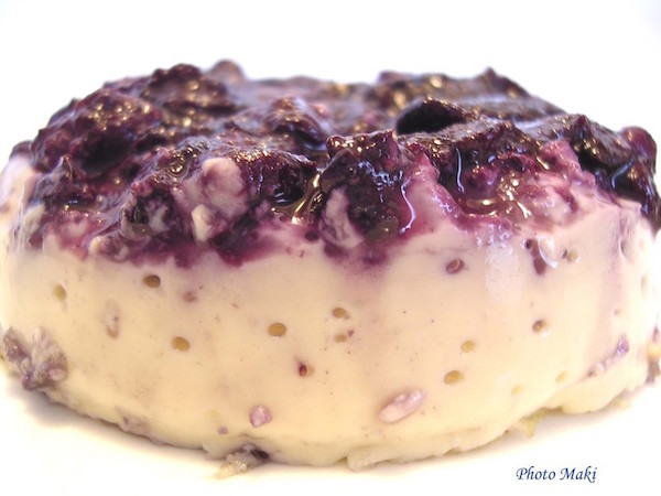 Photo Recette Crème Caramel aux Bleuets Sans Remord