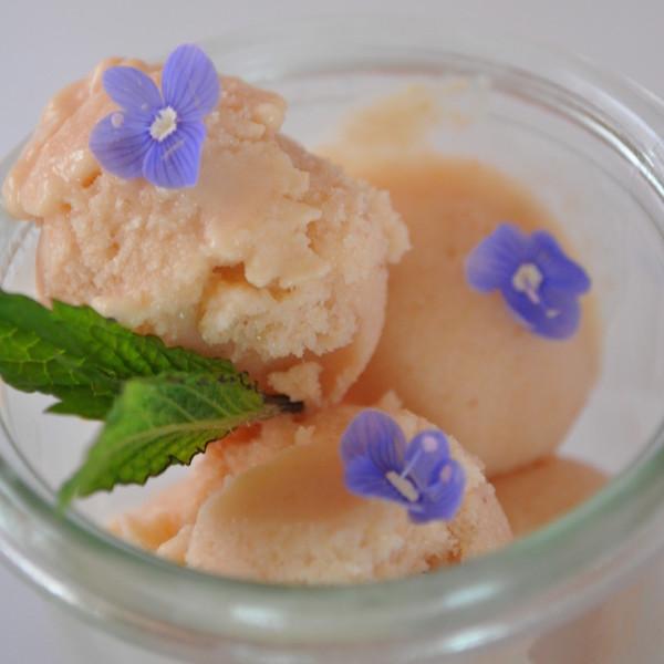 Crème Glacée aux Pêches de Vigne