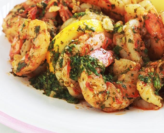Crevettes en Sauce Chermoula