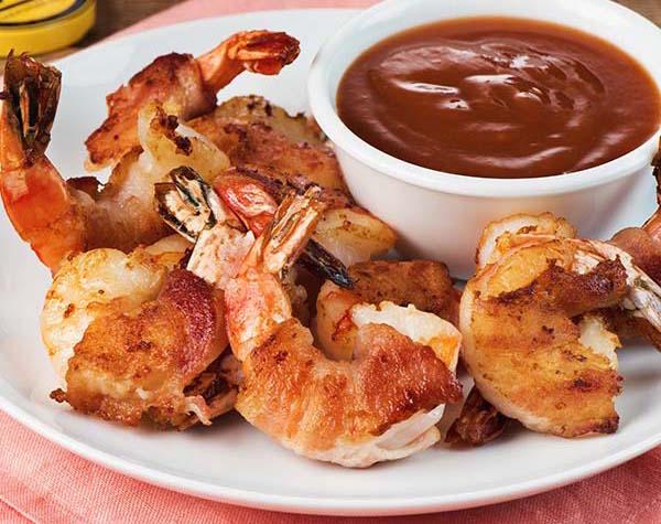 Crevettes Enrobées de Bacon