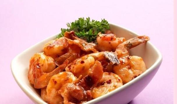 Photo Recette Crevettes Épicées avec Bacon