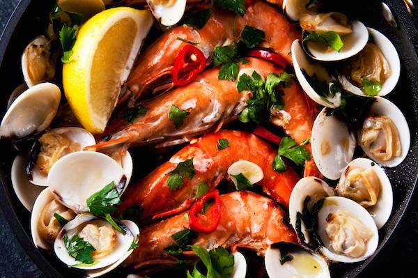 Crevettes et Palourdes à la Portugaise