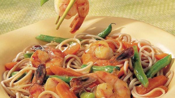 Crevettes Japonaises et Nouilles de Soba