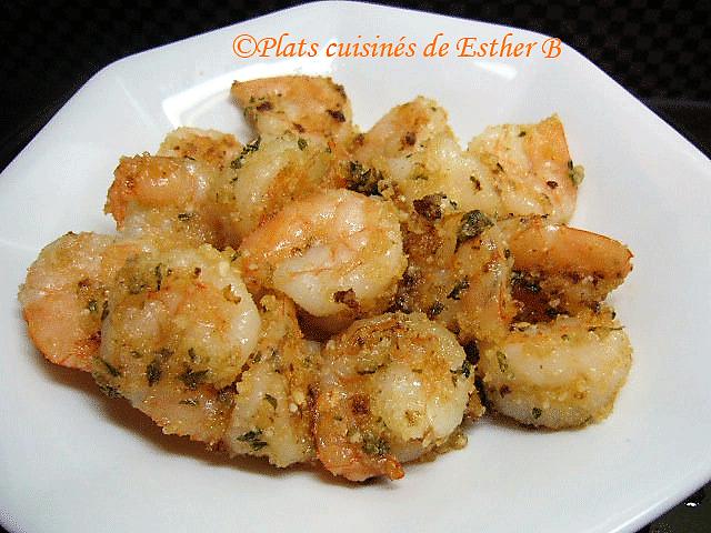 Photo Recette Crevettes Sablées au Fromage Parmesan