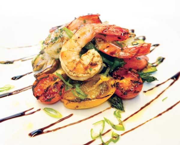 Crevettes Sauvages et Légumes Grillés au Vinaigre Balsamique