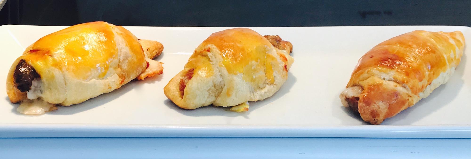 Photo Recette Croissants Saucisses Piquantes Style Pizza