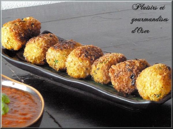 Croquettes de Poulet et Parmesan Sauce BBQ Maison