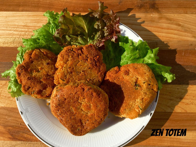 Croquettes de tofu et pois chiches santé