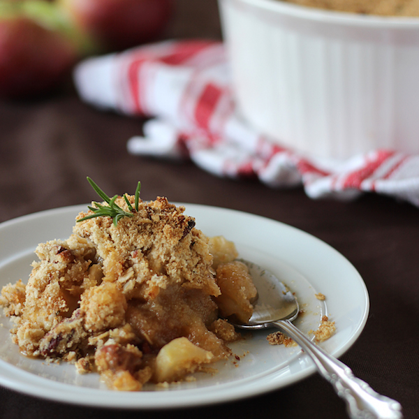 Photo Recette Croustade aux Pommes à L'érable et au Romarin