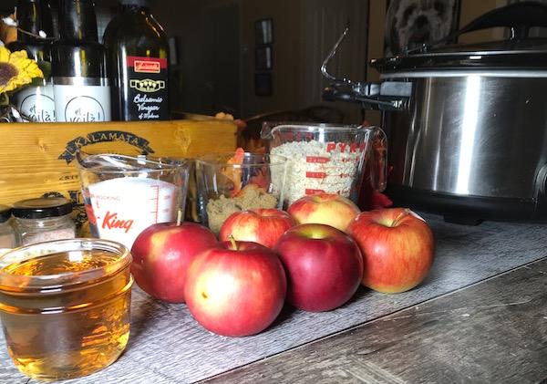 Croustade aux Pommes-Canneberges Sirop d'érable et Chocolat Blanc 1