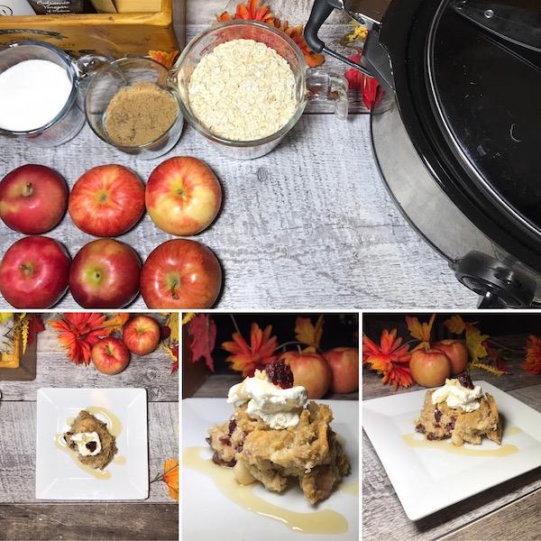 Croustade aux Pommes-Canneberges Sirop d'érable et Chocolat Blanc 12