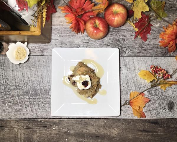Croustade aux Pommes-Canneberges Sirop d'érable et Chocolat Blanc