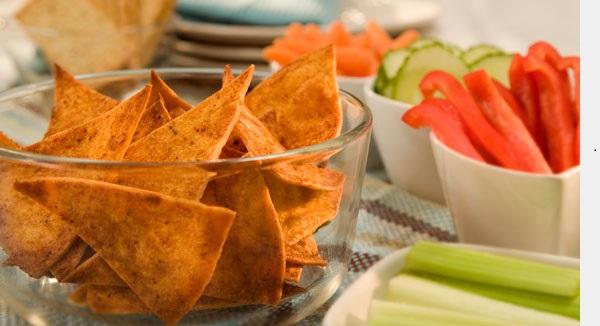Croustilles de Tortillas Cuites au Four au Chili et Piment