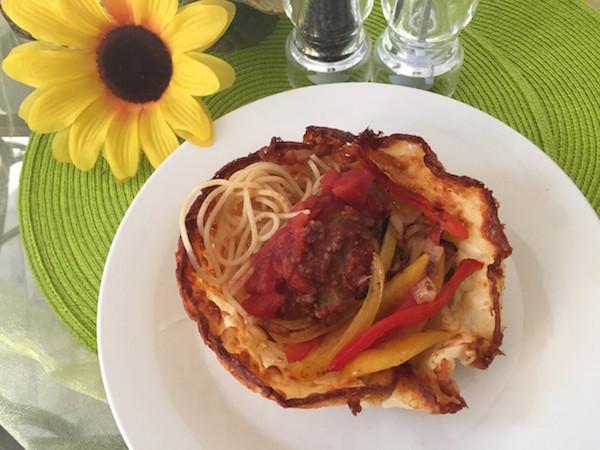 Croûte Fromagée et Spaghetti aux Légumes