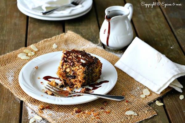 Crumb Cake au Chocolat, Amandes et Cardamome