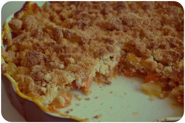 Crumble Rustique aux Abricots Sans Gluten