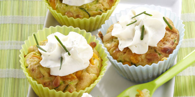 Cupcake Courgette Cheddar Pignon de Pin