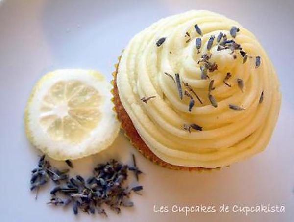 Cupcakes Citron & Fleurs de Lavande