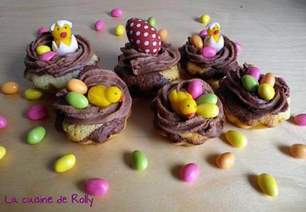 Cupcakes de Pâques aux Trois Chocolats